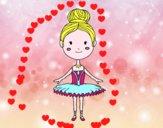 Dibujo Una bailarina de ballet pintado por pucho