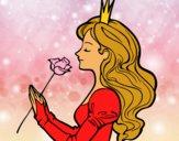 Dibujo Princesa y rosa pintado por the-lindas