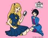 Barbie con el teléfono móvil