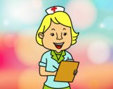 Dibujo Enfermera sonriente pintado por vicky12345