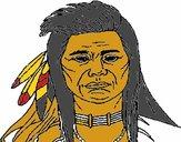 Indio con grandes plumas