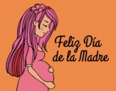 Dibujo Mamá embarazada en el día de la madre pintado por xavi-7