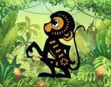 Dibujo Signo del mono pintado por xavi-7