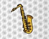 Dibujo Un saxofón tenor pintado por anerarbelo