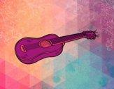 Una guitarra acústica