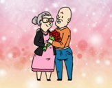 Abuelos enamorados