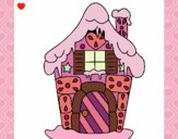 Dibujo Casa de caramelo pintado por naty02