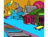Dibujo Estación de tren pintado por stocn