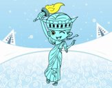 Estatua de la libertad manga
