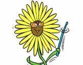 Dibujo Flor pintado por falan