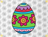 Dibujo Huevo de Pascua con flores pintado por camila2016