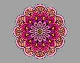Dibujo Mandala flor y hojas pintado por Vibrio88