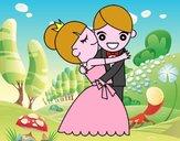 Dibujo Marido y Mujer bailando pintado por Milkilla
