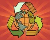 Dibujo Mundo Reciclaje pintado por yoanna3012