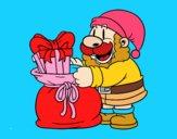 Santa Claus ofreciendo regalos