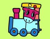 Dibujo Tren con jirafa pintado por stocn