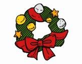 Dibujo Una corona de Navidad pintado por Orianalas