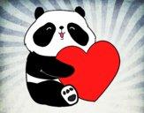 Dibujo Amor Panda pintado por yussette