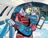 Dibujo Astronautas enamorados pintado por JOSEMG