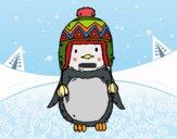 Dibujo Bebé pingüino con gorrito pintado por JOSEMG