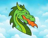 Dibujo Cabeza de dragón europeo pintado por ignacio12
