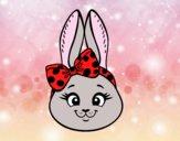 Dibujo Cara de conejita pintado por Valeria18