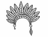 Corona de plumas de jefe indio