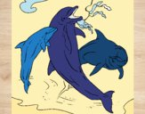 Dibujo Delfines jugando pintado por JOSEMG