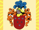 Dibujo Escudo de armas y casco pintado por JOSEMG