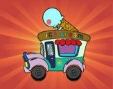 Dibujo Food truck de helados pintado por davidgv