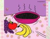 Fruta y caracoles a la cazuela