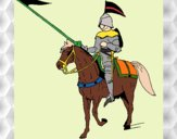 Dibujo Jinete a caballo pintado por JOSEMG