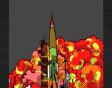 Dibujo Lanzamiento cohete pintado por JOSEMG