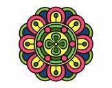 Dibujo Mandala flor creativa pintado por mabel88
