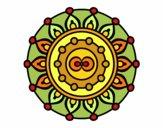 Dibujo Mandala meditación pintado por mabel88
