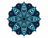 Dibujo Mandala para la concentración pintado por mabel88