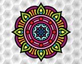 Mandala puntos de fuego