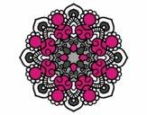 Dibujo Mandala reunión pintado por mabel88