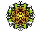 Dibujo Mandala reunión pintado por silviajudi