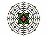 Dibujo Mandala sistema solar pintado por mabel88