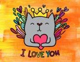 Dibujo Mensaje de Amor pintado por yussette