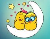 Dibujo Pájaros enamorados pintado por yussette