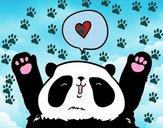 Panda enamorado