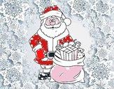Papá Noel con bolsa de regalos