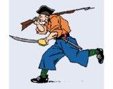 Dibujo Pirata con espadas pintado por JOSEMG