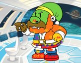 Santa Claus enfadado