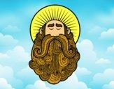 Dibujo Santo pintado por lachulee