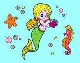 Dibujo Sirena preciosa pintado por JOSEMG