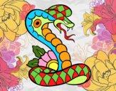Dibujo Tatuaje de cobra pintado por Laia543