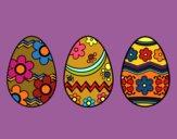Tres huevos de pascua
